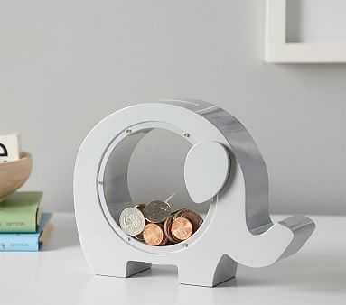 Gray Elephant Bank - Pottery Barn Kids
