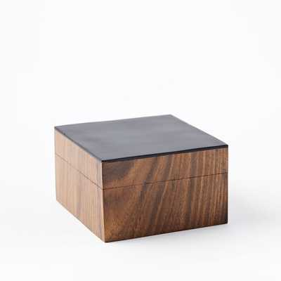 Wood + Black Decorative Box - Small - West Elm