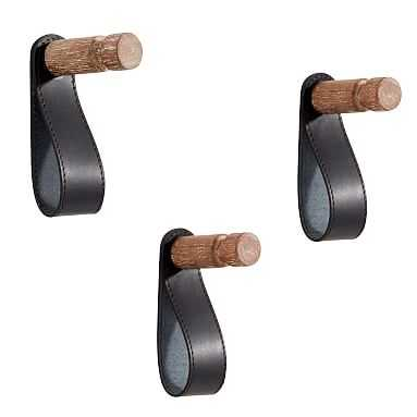 Leather Wall Organizers, Hooks, Set of 3 - Pottery Barn Teen