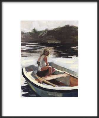 "Girl in a boat, 15"" x 18"" - Artfully Walls"