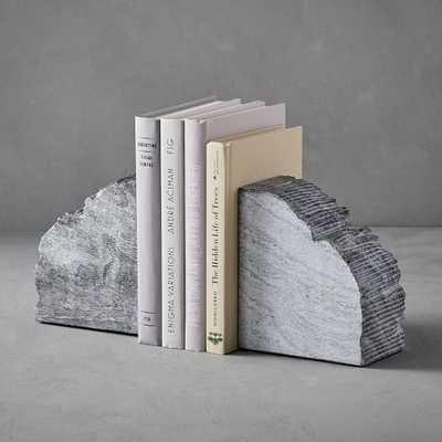 Rough Cut Stone Bookends, set of 2 - West Elm