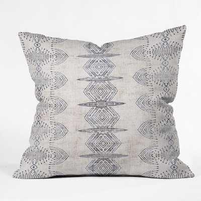 FRENCH LINEN ERIS Throw Pillow - 16x16 - Pillow with insert - Wander Print Co.