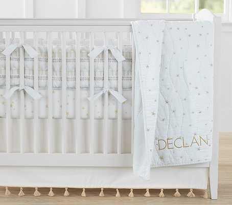 The Emily & Meritt Stars Baby Bedding Sets:  Nursery Quilt Bedding Set: Quilt, Crib Fitted Sheet & Crib Skirt - Pottery Barn Kids