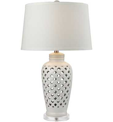 Dimond Products D2621 Open Work Ceramic Table Lamp - Hayneedle