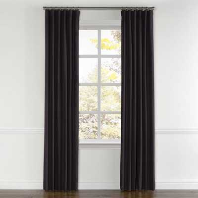 Custom Convertible Drapery / Classic Velvet - Charcoal - Loom Decor