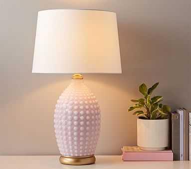 Pink Hobnail Lamp - Pottery Barn Kids