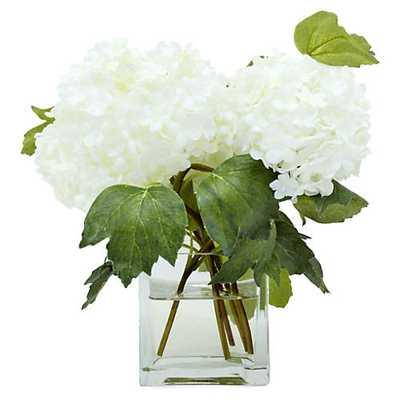 "9"" Snowball in Vase, Faux - One Kings Lane"