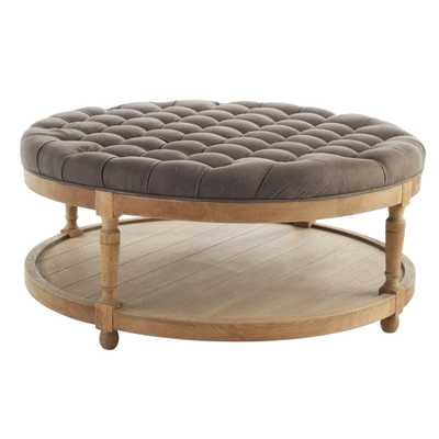 ROUND BUTTON TUFTED COFFEE TABLE - Wisteria