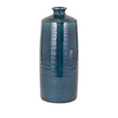 Arlo Large Blue Vase - Hayneedle