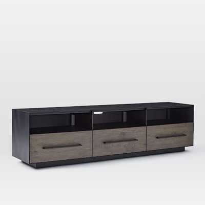 """Massaro Metal-Wrapped Media Console (68"""") - Hot-Rolled Steel - West Elm"""