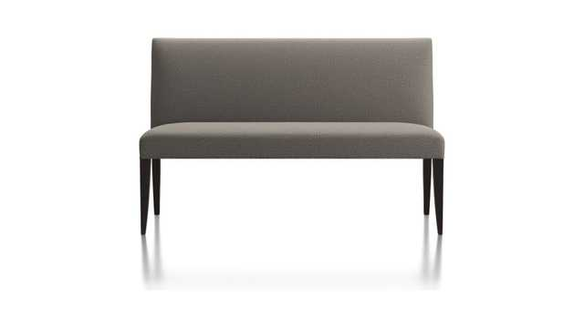 """Miles 58"""" Medium Upholstered Dining Banquette Bench- Tobais Gravel - Crate and Barrel"""