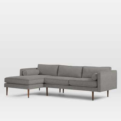 Monroe Mid-Century 2-Piece Chaise Sectional - Left Chaise 2-Piece Sectional - West Elm
