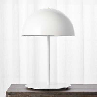 hanna white table lamp - CB2