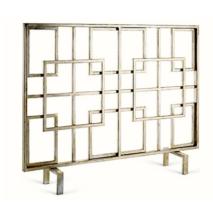 Overlapping Squares Fireplace Screen - High Street Market