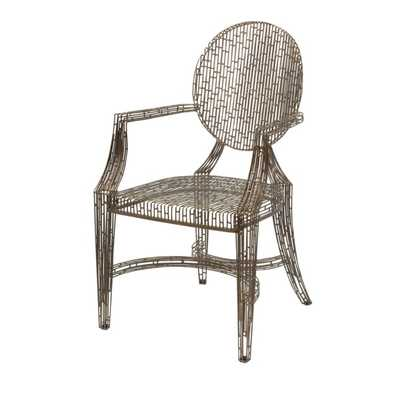 Wilkins Handcrafted Metal Arm Chair - Mercer Collection