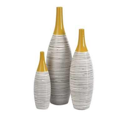 Andean Multi Glaze Vases - Set of 3 - Mercer Collection