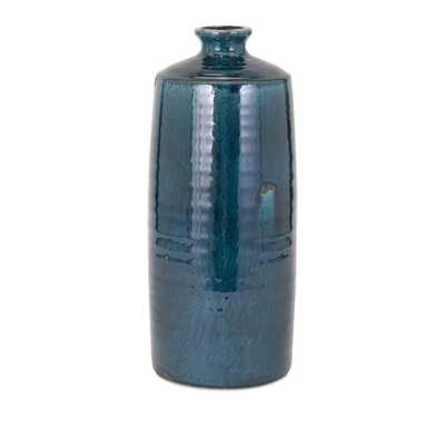 Distressed Arlo Large Teal Vase - Mercer Collection