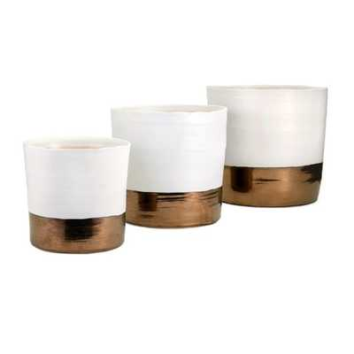 Harlow Ceramic Planters - Set of 3 - Mercer Collection