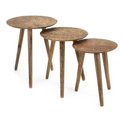 Inigo Round Tables - Set of 3 - Mercer Collection