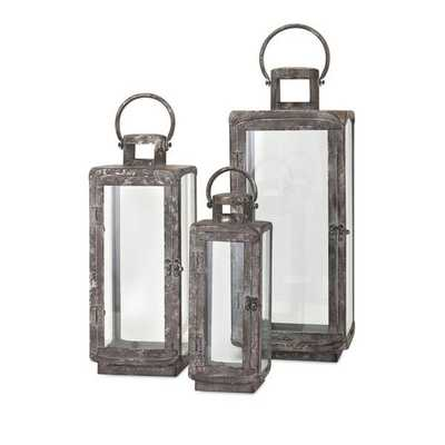 Homestead Metal Lanterns - Set of 3 - Mercer Collection