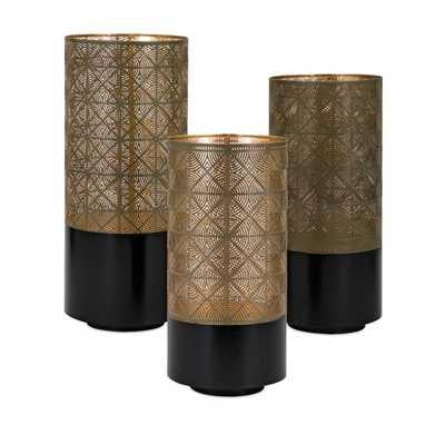 Manhattan Pierced Lanterns - Set of 3 - Mercer Collection