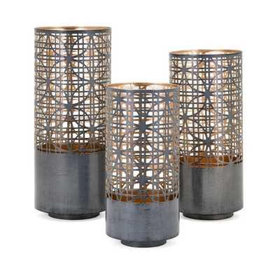 Modi Pierced Lanterns - Set of 3 - Mercer Collection