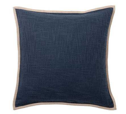"Cotton Basketweave Pillow Cover 20"" - Sailor Blue - Pottery Barn"
