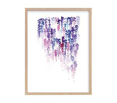 Lavender Rain, Wall Art by Minted(R), 16x20, Natural - Pottery Barn Kids