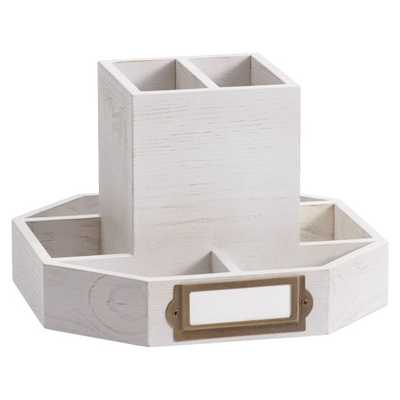 Classic Wooden Desk Accessories, Rotating Caddy - Pottery Barn Teen