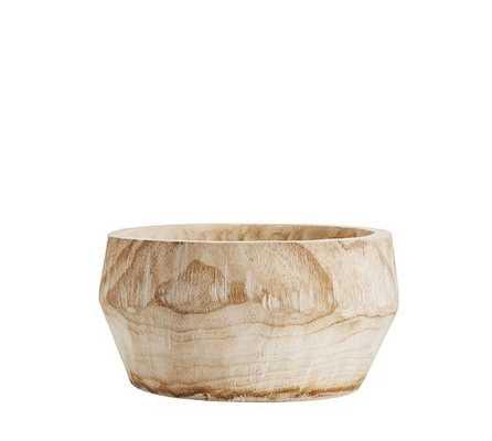 Paulownia Wood Vase, Small - Pottery Barn