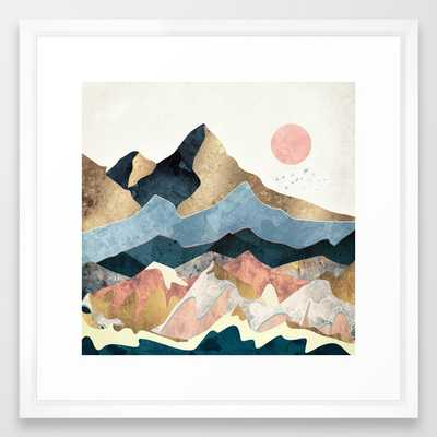 "Golden Peaks Framed Art Print, 22"" x 22"" with White Vector Frame - Society6"