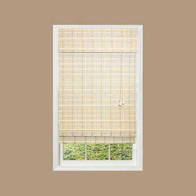 Home Decorators Collection White Washed Reed Weave Bamboo Roman Shade - 28.5 in. W x 72 in. L - Home Depot