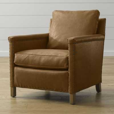 Trevor Leather Chair - Crate and Barrel