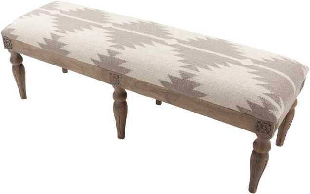 Surya Furniture 59 x 18 x 19 Bench - Neva Home