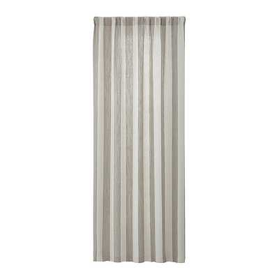 Willis Natural Taupe Curtain Panel 48x108 - Crate and Barrel