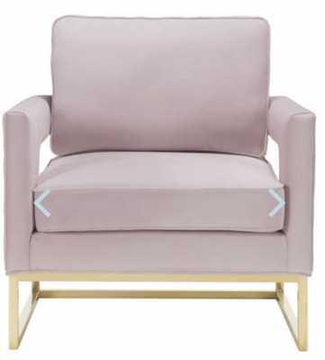 Aubrey Blush Velvet Chair - Maren Home