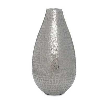 "Talis Vase - Silver, 12"" - Mitchell Gold + Bob Williams"