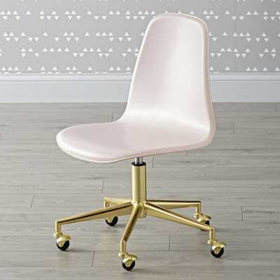 Kids Class Act Pink and Gold Desk Chair - Crate and Barrel