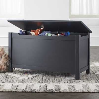 Charcoal Wooden Toy Box - Crate and Barrel