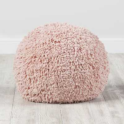 Pink Shaggy Pouf - Crate and Barrel