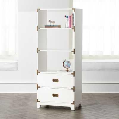 White Campaign Bookcase - Crate and Barrel