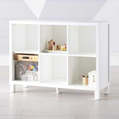 White 6-Cube Bookcase - Crate and Barrel