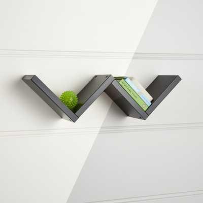 Origami Black Wall Shelf - Crate and Barrel
