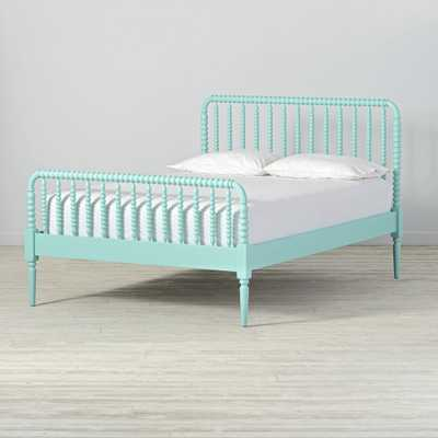 Jenny Lind Teal Full Bed - Crate and Barrel