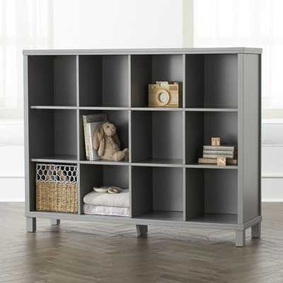 Grey 12-Cube Bookcase - Crate and Barrel