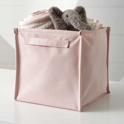 Canvas Pink Cube Bin - Crate and Barrel