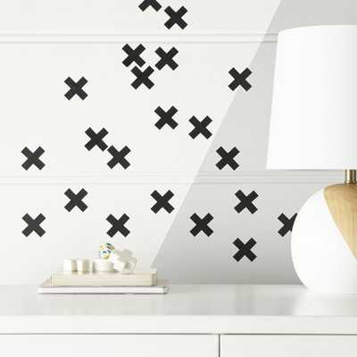 Black X Decal Set - Crate and Barrel