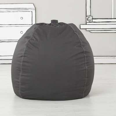Large Grey Bean Bag Chair - Crate and Barrel
