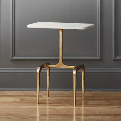 oxford marble side table - CB2