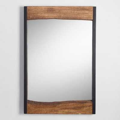 Small Walnut Brown Wood Leaner Mirror With Live Edge - World Market/Cost Plus